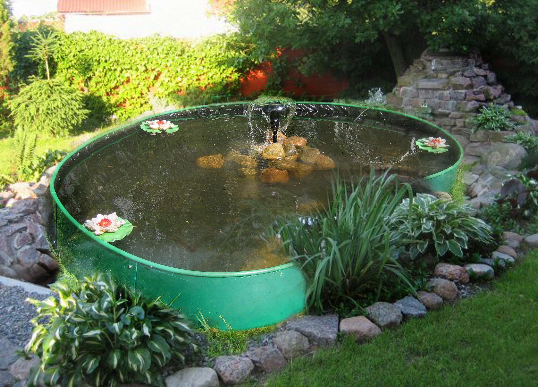 Фото пруда с фонтаном своими руками